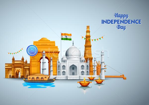 Famoso indio mojón feliz día India Foto stock © vectomart