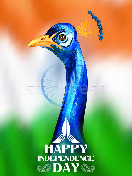 Tricolor Indian banner for 15th August Happy Independence Day of India Stock photo © vectomart