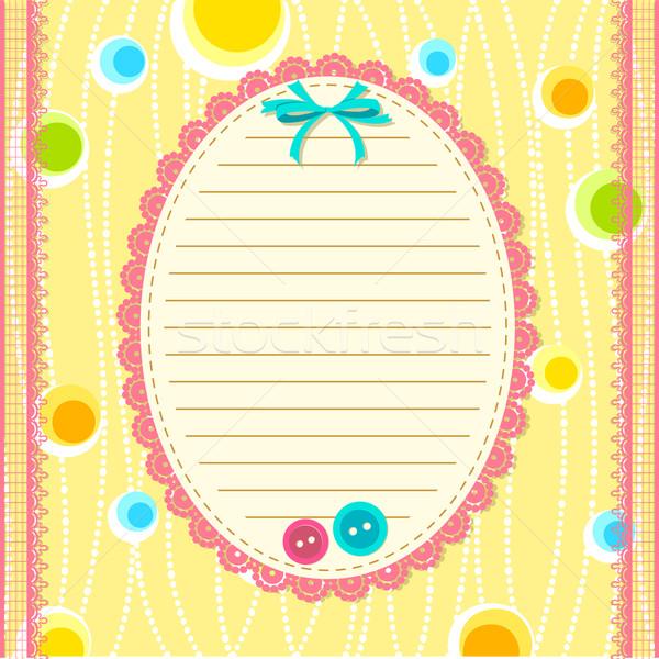 альбом иллюстрация макет кружево кадр кнопки Сток-фото © vectomart