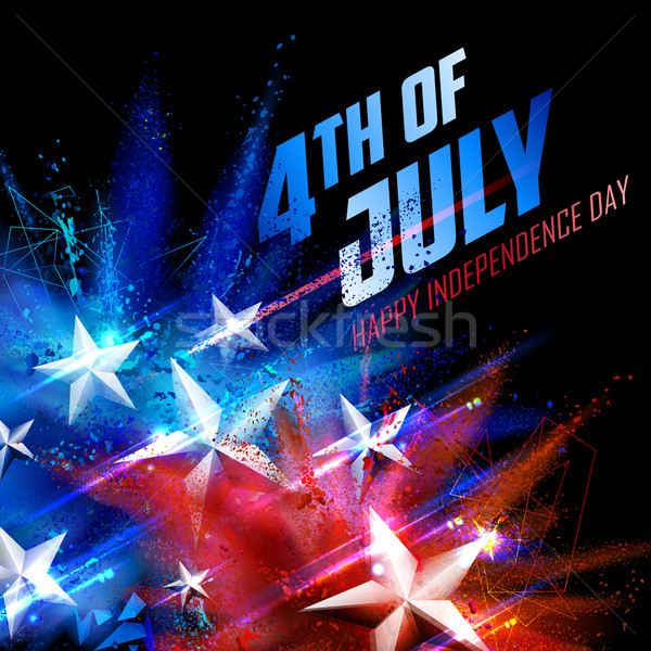 第4 幸せ 日 アメリカ 実例 背景 ストックフォト © vectomart