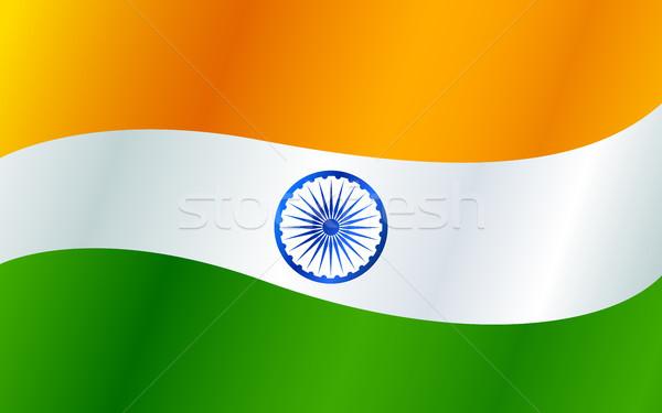 Tricolor indio bandera república día India Foto stock © vectomart