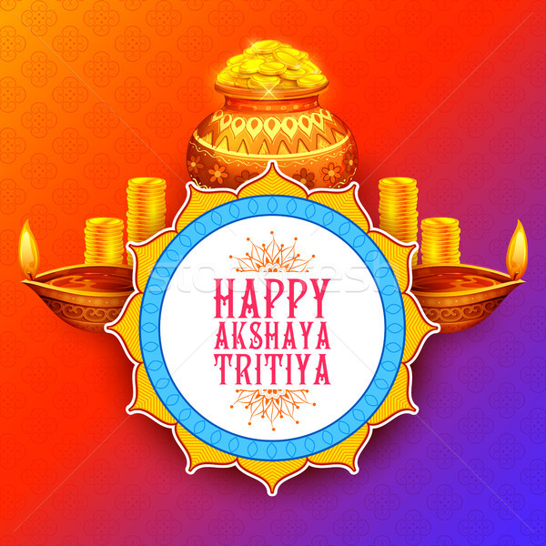 Akshay Tritiya religious festival of India celebration Stock photo © vectomart