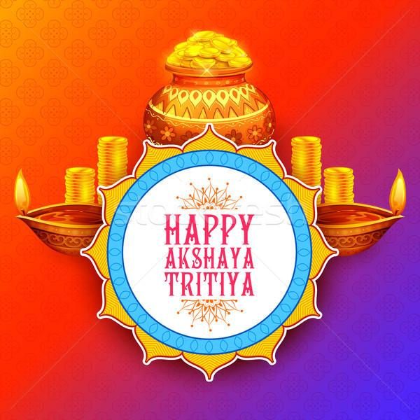 Dini festival Hindistan kutlama örnek mutlu Stok fotoğraf © vectomart