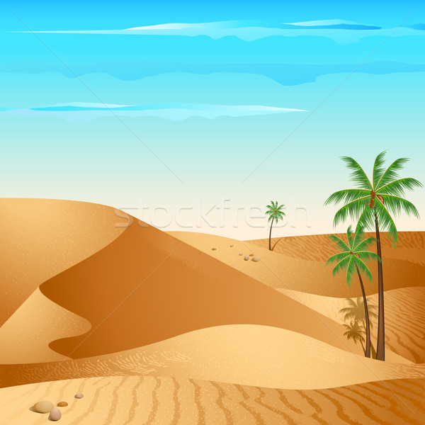 Lonely Desert Stock photo © vectomart