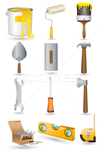 Under Construction icon Set Stock photo © vectomart
