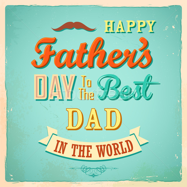 Happy Father's Day Stock photo © vectomart
