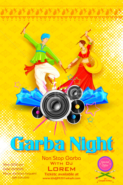 Garba night Poster Stock photo © vectomart