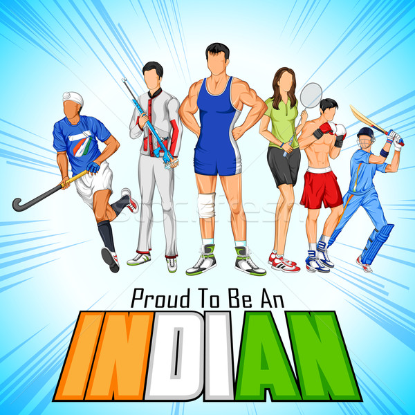 India sportsperson from different field is proud to be an Indian Stock photo © vectomart