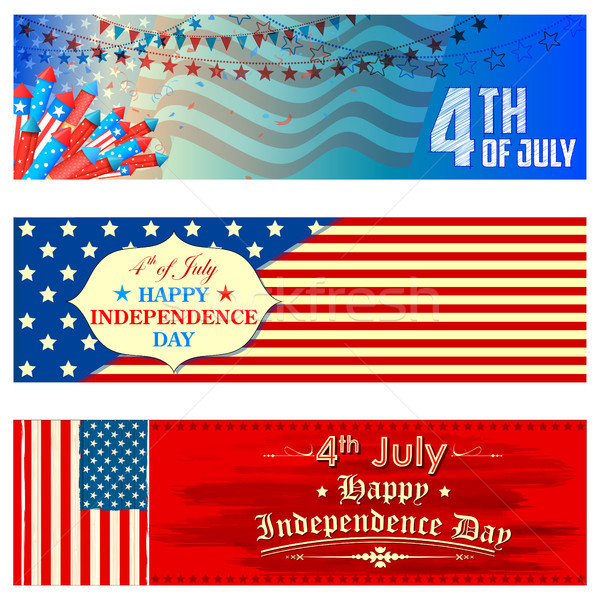 Stock photo: Fourth of July background for Happy Independence Day of America