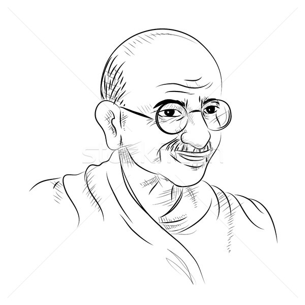 India background with Nation Hero and Freedom Fighter Mahatma Gandhi for Independence Day or Gandhi  Stock photo © vectomart