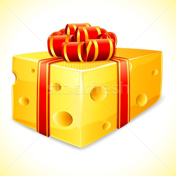 Sorpresa ilustración queso cinta resumen textura Foto stock © vectomart