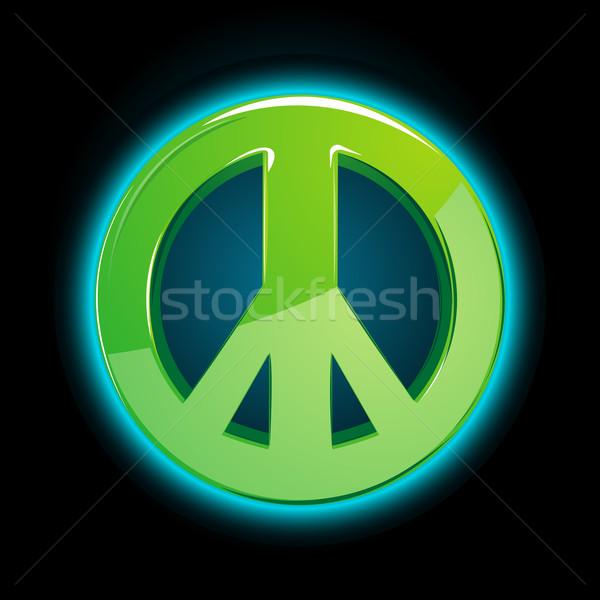 Pace segno illustrazione abstract natura design Foto d'archivio © vectomart