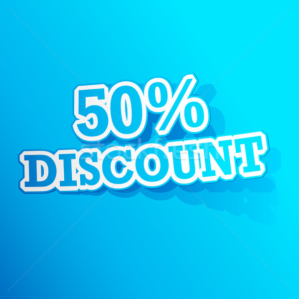 50 percent Discount  Sticker Stock photo © vectomart