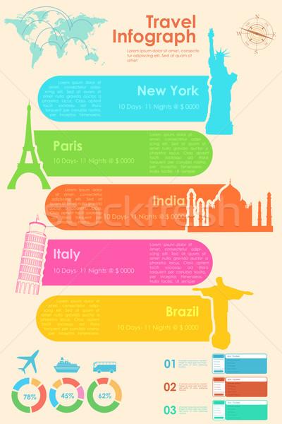 Voyage graphique illustration présentation ville Photo stock © vectomart