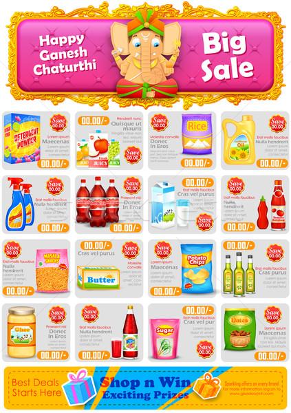 Happy Ganesh Chaturthi sale offer Stock photo © vectomart