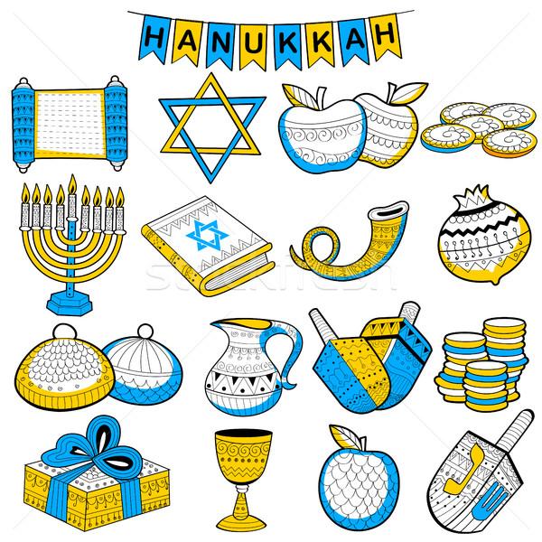 Happy Hanukkah, Jewish holiday background Stock photo © vectomart