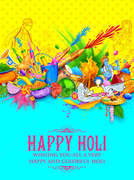 Szczęśliwy festiwalu kolory uroczystości ilustracja Zdjęcia stock © vectomart