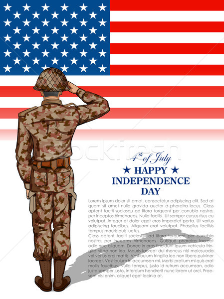 Katona negyedik boldog nap Amerika illusztráció Stock fotó © vectomart