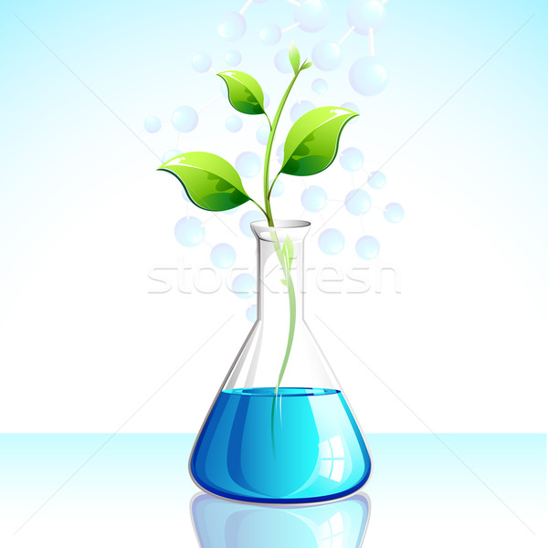 Impianto illustrazione crescita laboratorio apparato albero Foto d'archivio © vectomart
