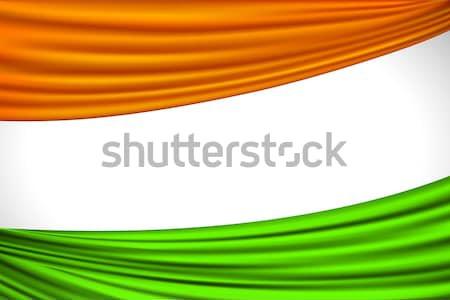 индийской флаг иллюстрация триколор занавес аннотация Сток-фото © vectomart