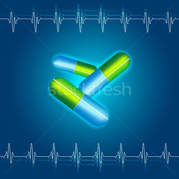 Médicaux capsule illustration résumé santé douleur Photo stock © vectomart
