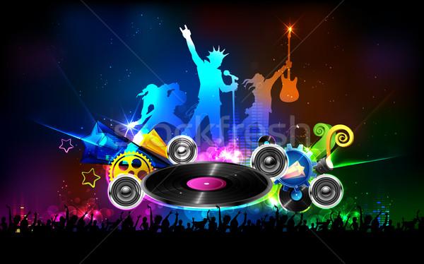 Disco jockey fiesta noche ilustración hombre Foto stock © vectomart