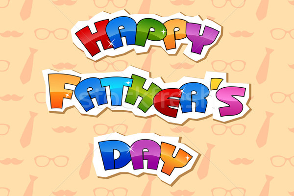 Happy Father's Day Background Stock photo © vectomart