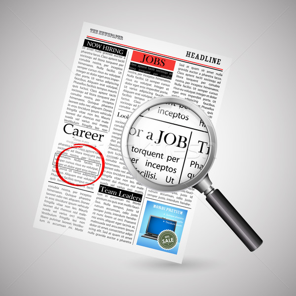 Stock photo: Job Search in Newspaper