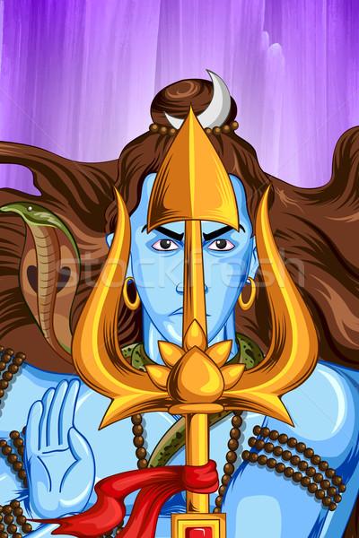 Shiva indio dios ilustración culto poder Foto stock © vectomart