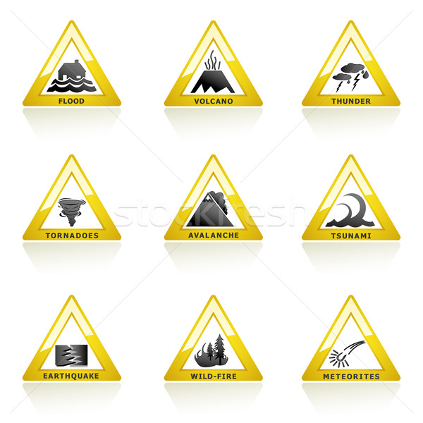 Natural Disaster Icon Stock photo © vectomart