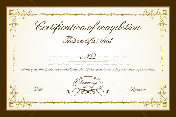 Stock photo: Certificate Template