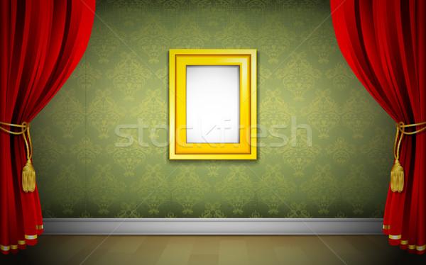Photo Frame on Wallpaper Stock photo © vectomart