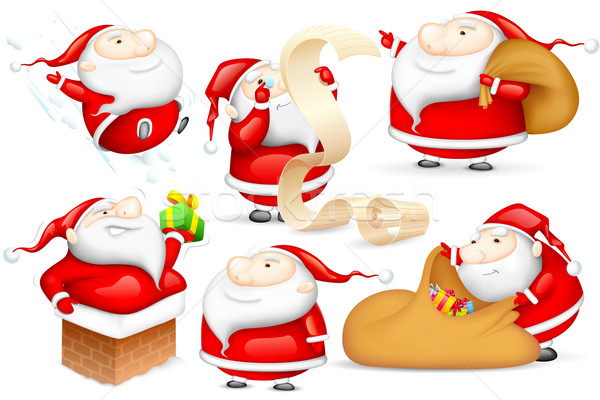 Santa in different Mood Stock photo © vectomart