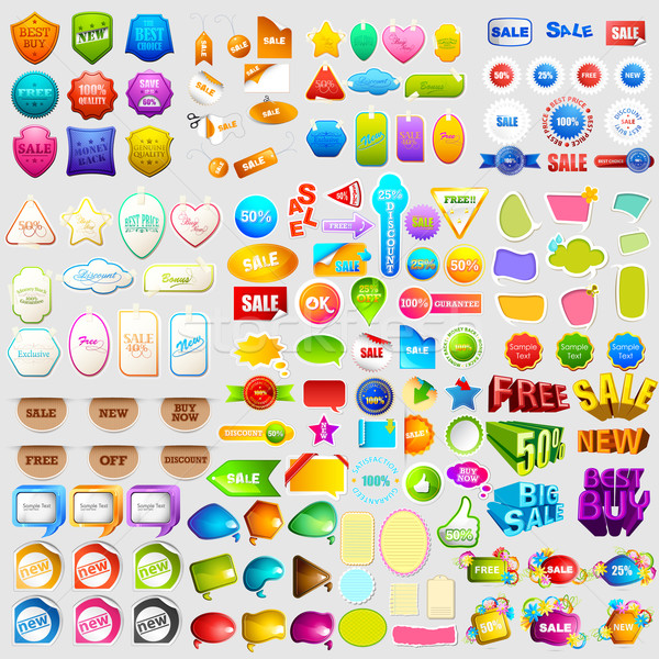 Sale and Promotion element jumbo collection Stock photo © vectomart