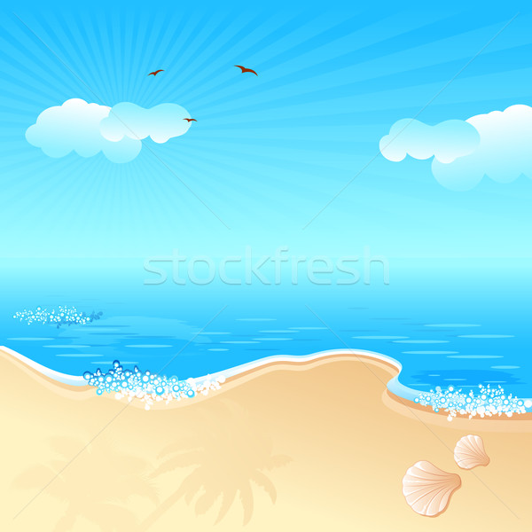 Sea Beach Stock photo © vectomart