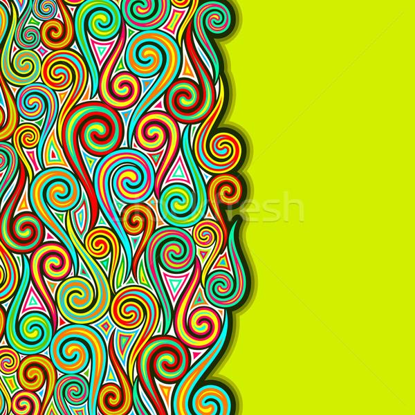 Colorful Swirly Background Stock photo © vectomart