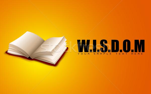 Livro aberto sabedoria ilustração motivacional escolas Foto stock © vectomart