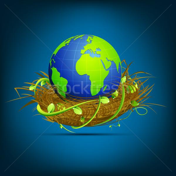Globe in Nest Stock photo © vectomart