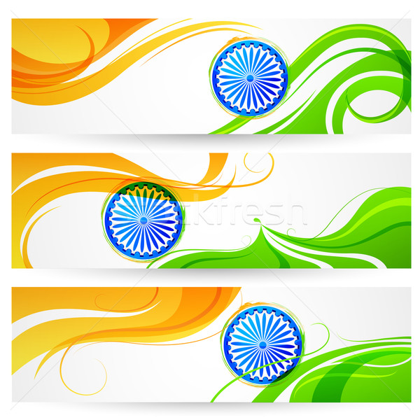 Tricolor India banner Stock photo © vectomart