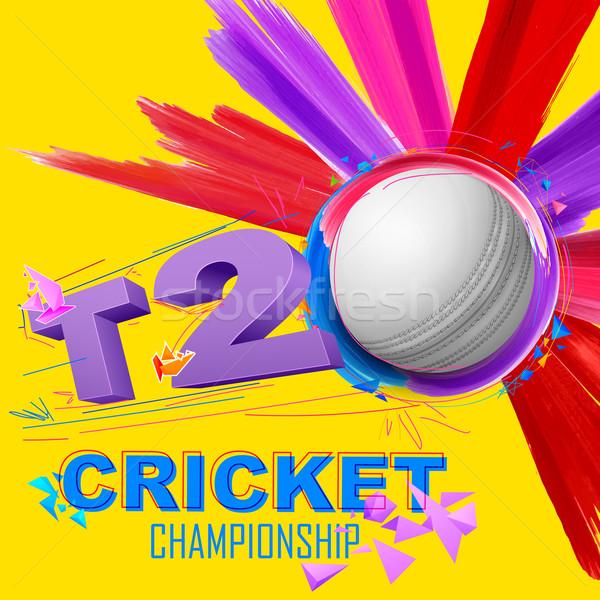 Cricket pelota campeonato ilustración fitness deportes Foto stock © vectomart