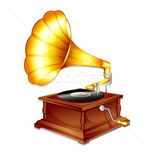 Antique Gramaphone Stock photo © vectomart