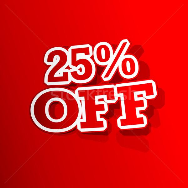 25 yüzde etiket örnek etiket Stok fotoğraf © vectomart