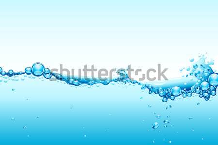 Photo stock: Eau · vague · illustration · bleu · nature · fond