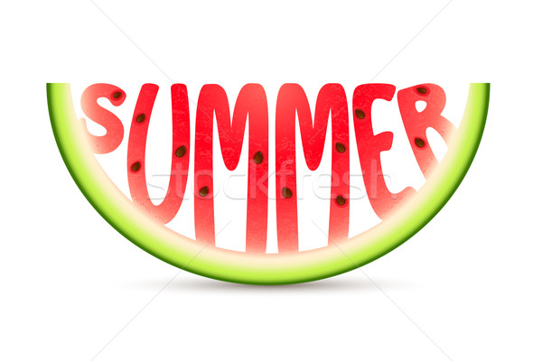 Summer Watermelon Stock photo © vectomart