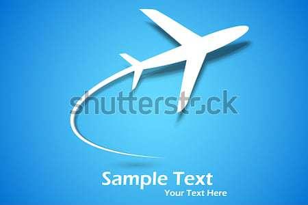 Uçak örnek kağıt uçak gökyüzü Stok fotoğraf © vectomart
