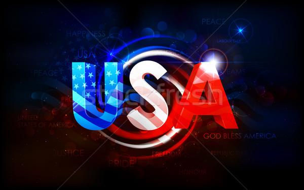 Stock fotó: Absztrakt · amerikai · zászló · illusztráció · buli · terv · háttér