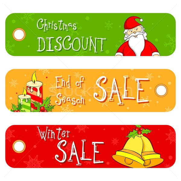 Christmas Sale Banner Stock photo © vectomart