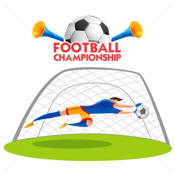 футбола чемпионат Кубок Футбол спортивных иллюстрация Сток-фото © vectomart