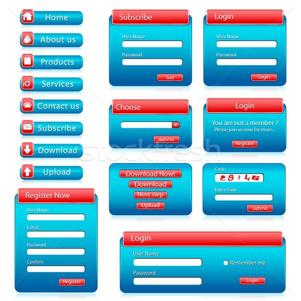 Web Form Template Stock photo © vectomart