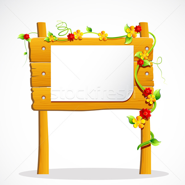 Wooden Notice Board Stock photo © vectomart